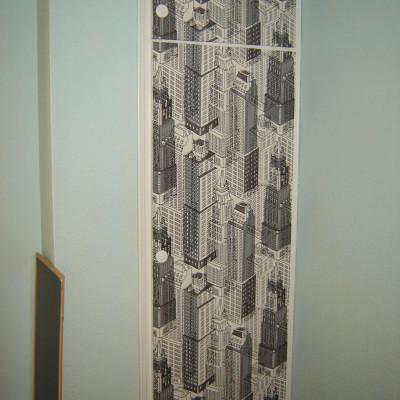 puerta de armario tapizada