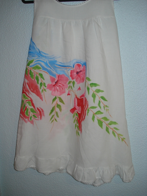 Vestido Pintado A Mano Antoylola