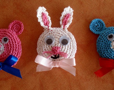broches-crochet-con-caras-de-animales