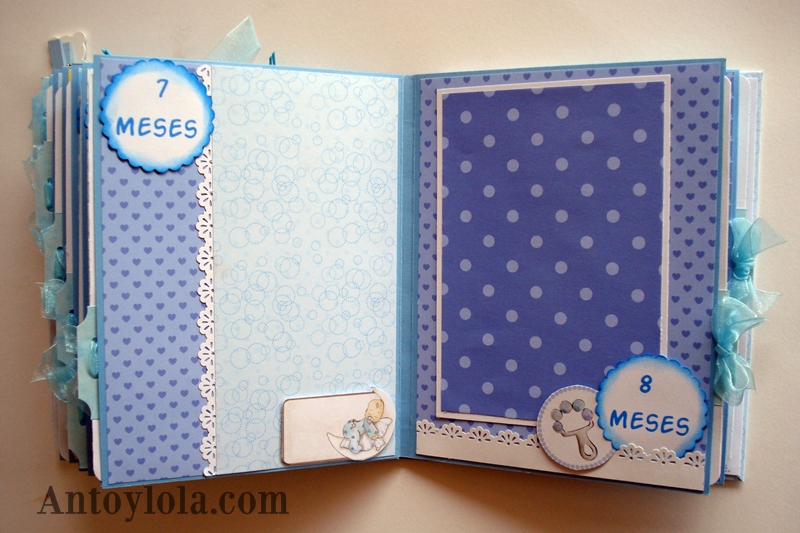 Mini álbum scrap de bebé para Angel