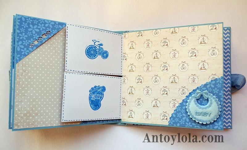 mini álbum de bebé en tonos azules14