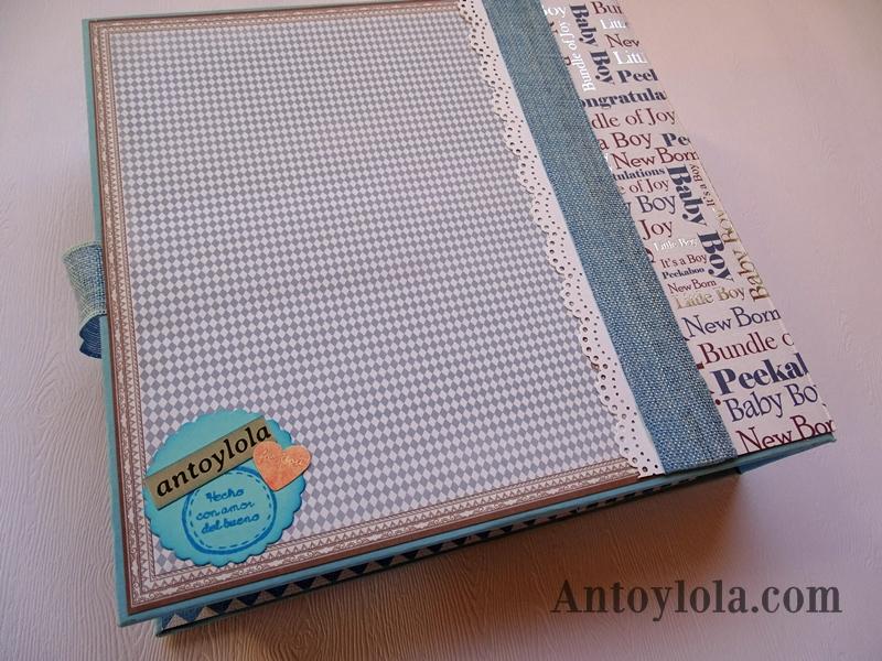 mini álbum de bebé en tonos azules18