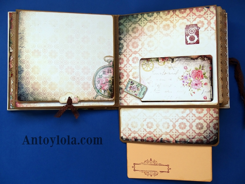 Album familiar en estilo vintage cosido
